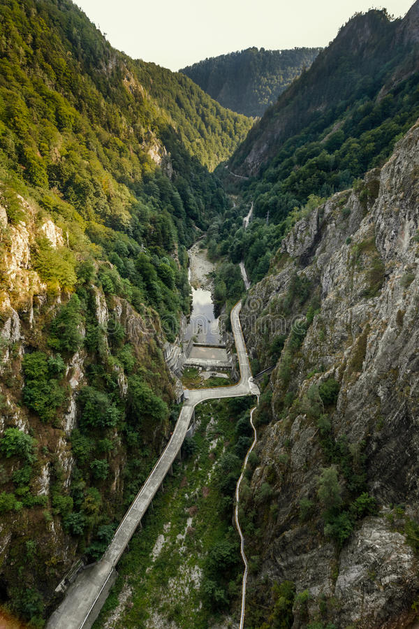 View from Vidraru dam, Romania royalty free stock photography