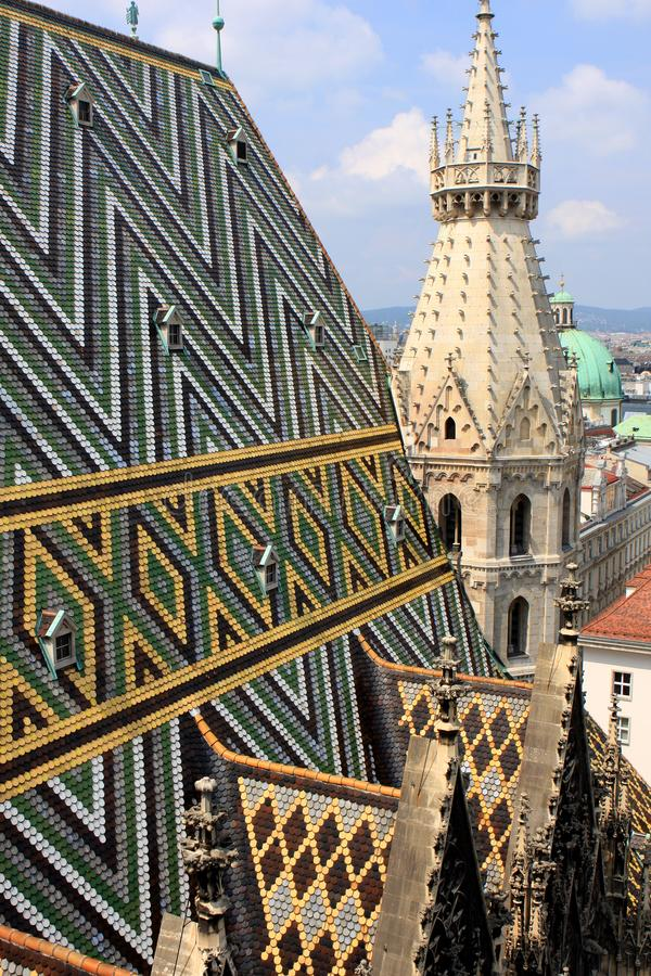 View of Vienna. From St. Stephen`s Cathedral, Austria royalty free stock images