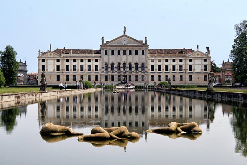 View of Villa Pisani, Stra, Italy royalty free stock photo