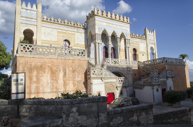The villa Sticchi in Oriental style royalty free stock photography
