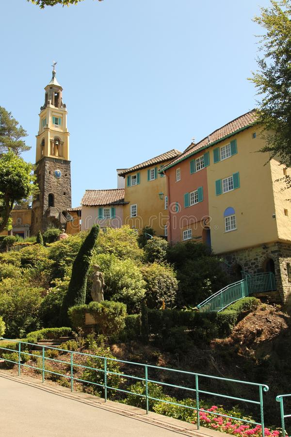 Portmeirion village in Gwynedd, North Wales. royalty free stock images