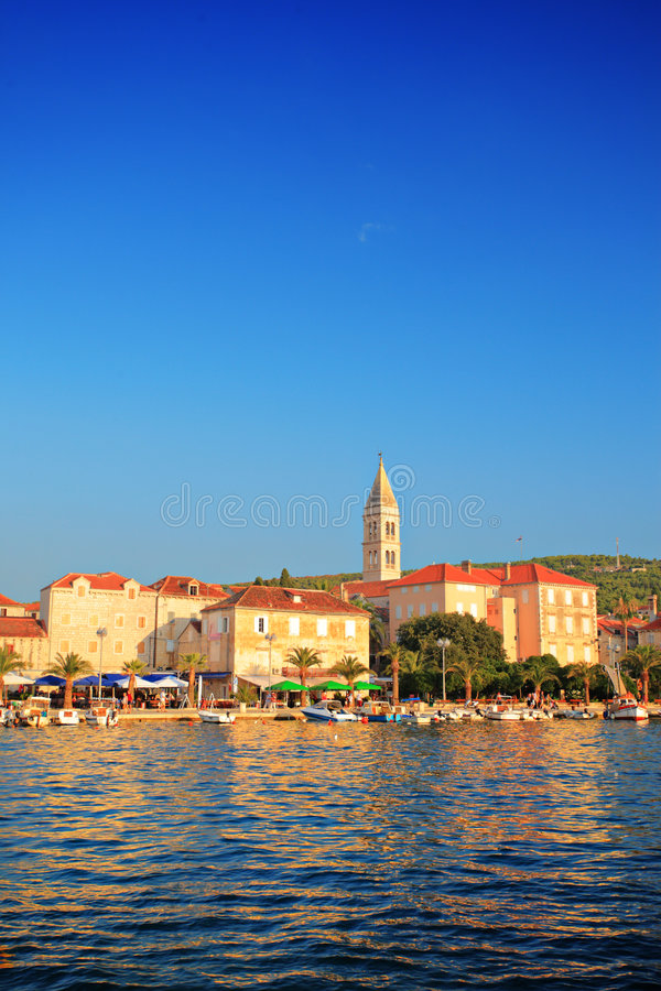 A View Of Village Supetar Royalty Free Stock Photos
