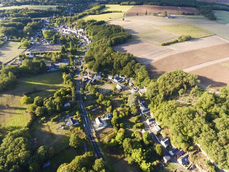View of Villaines-les-Rochers, Indre-et-Loire. Centre-Val de Loire, France royalty free stock image