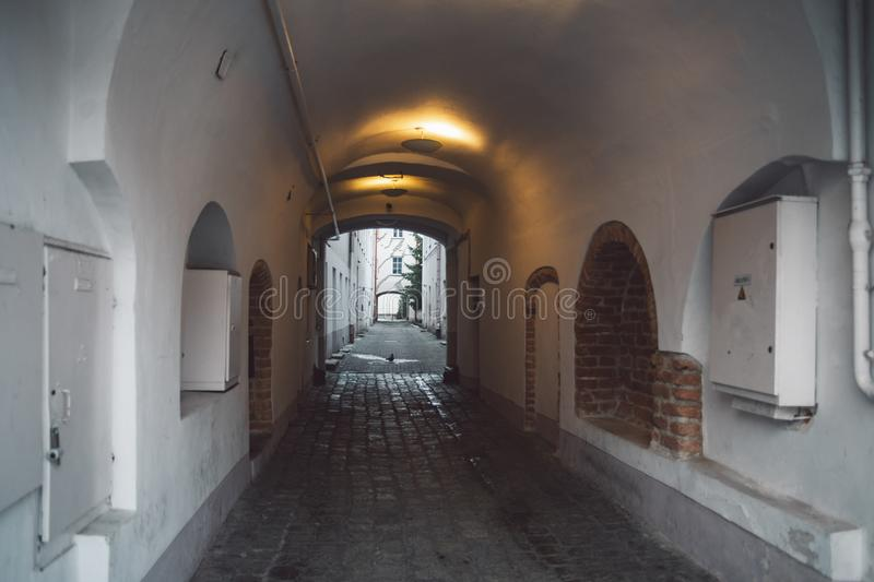 View on Vilnius old town street royalty free stock photography