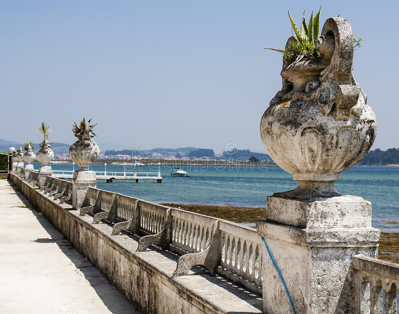 View of vintage seafront stock photo