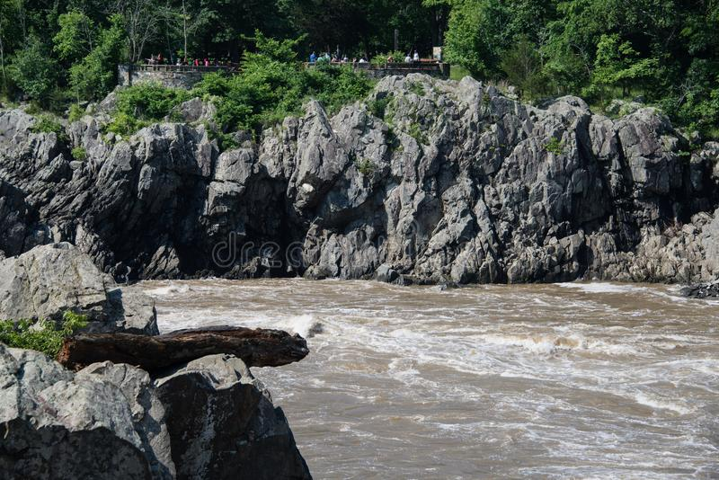 View of the Virginia lookout at Great Falls stock images
