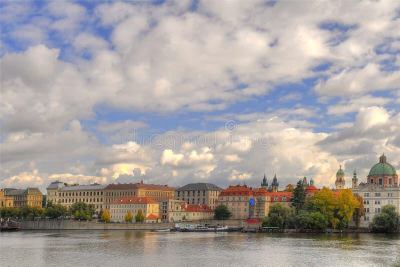 View of Vltava river stock photos