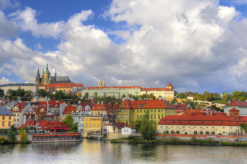 View of Vltava river stock image