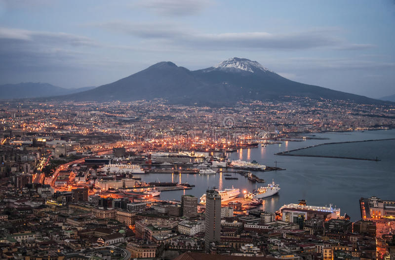 Bay of Naples stock images