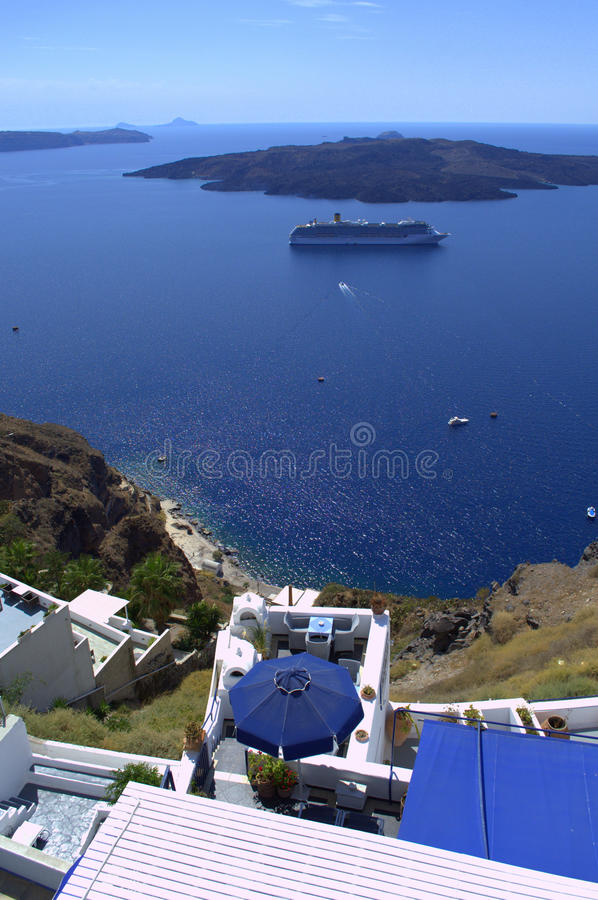 Download Nea Kameni Volcano Outlook Santorini Stock Image - Image: 34063727