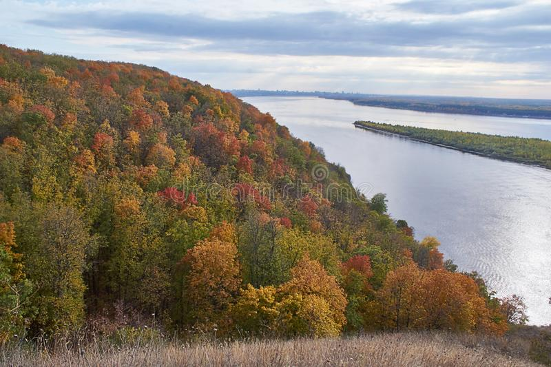 View on the Volga river near the  Samara stock photos