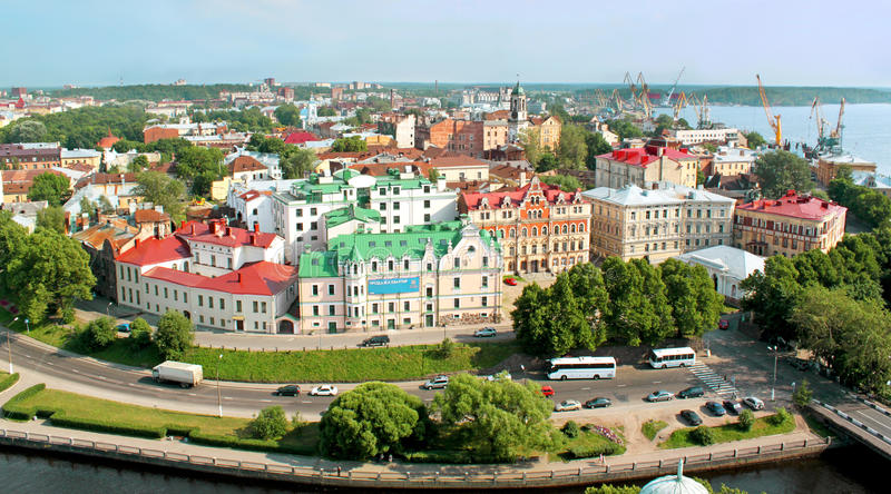 View of a Vyborg, Russia stock photos