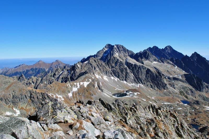 View from Vychodna Vysoka, High Tatras, Slovakia stock photo