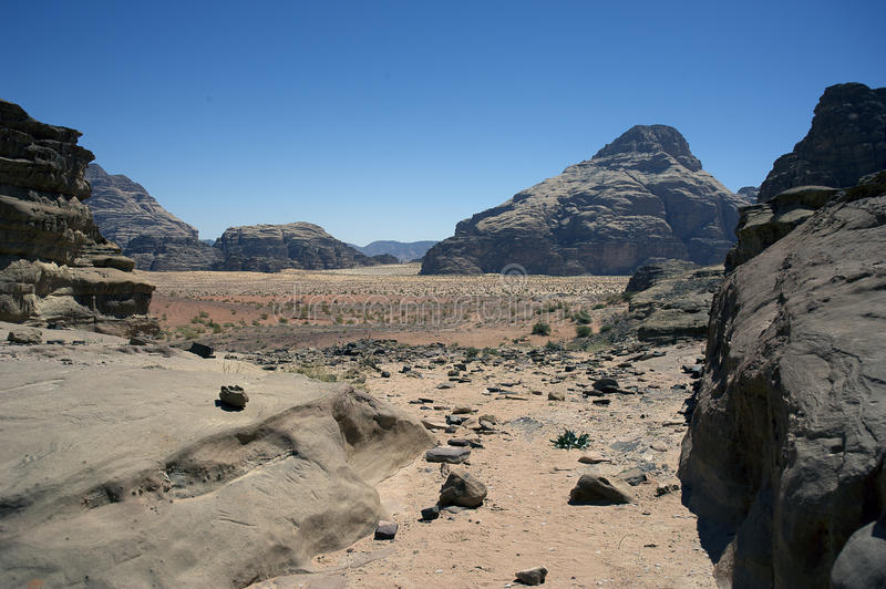 A view of the Wadi Rum desert. Jordan royalty free stock photography