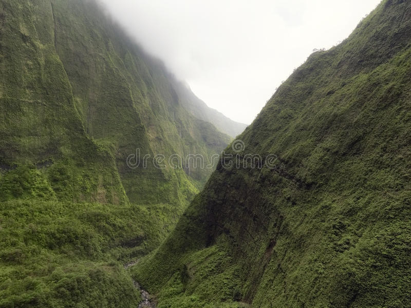 View of Waimea Canyon on Na Pali Coast, Kauai island, Hawaii royalty free stock photos