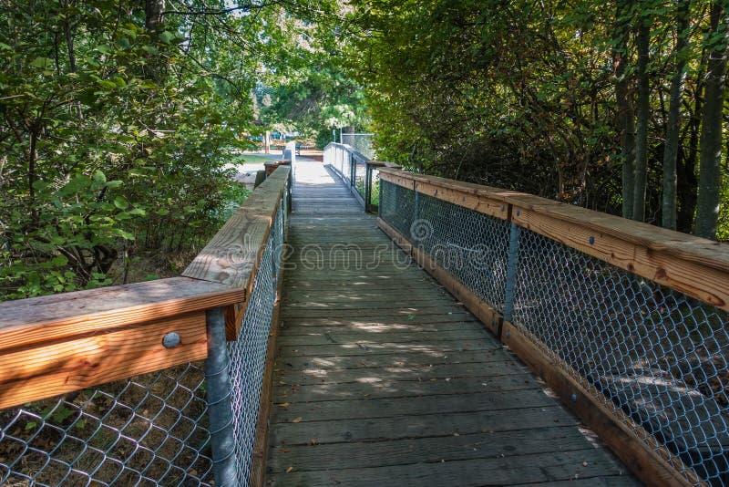 Gene Coulon Park Bridge 3 stock photos
