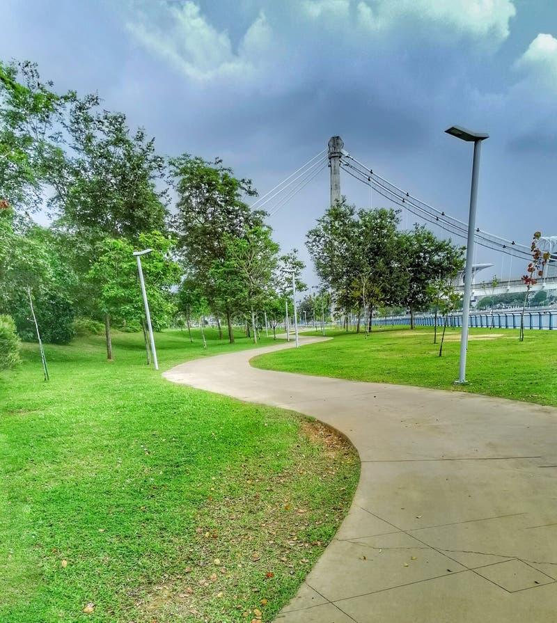 The view of walking path at Ayer 8, Putrajaya Malaysia stock photo