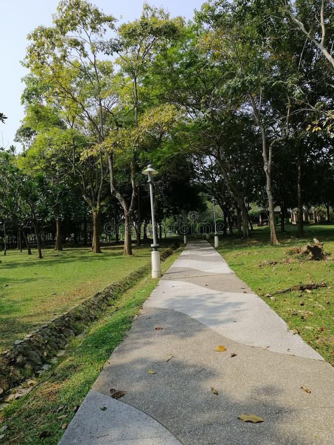The view of walking path at Taman Putra Perdana Putrajaya Malaysia royalty free stock photography