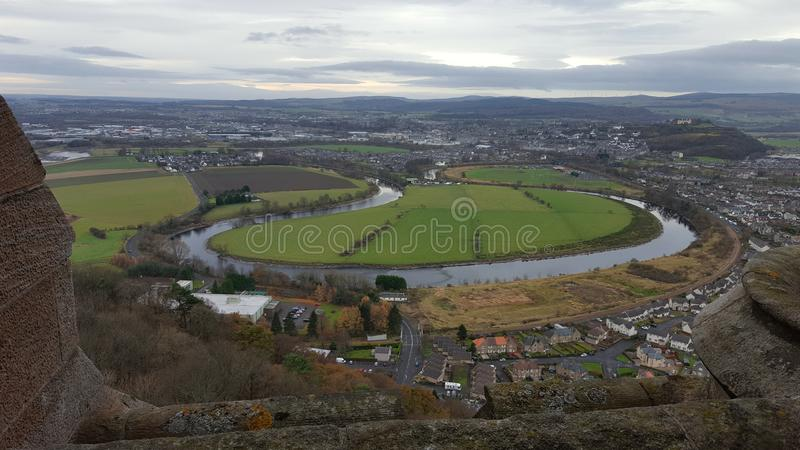 View from the Wallace Monument stock photo