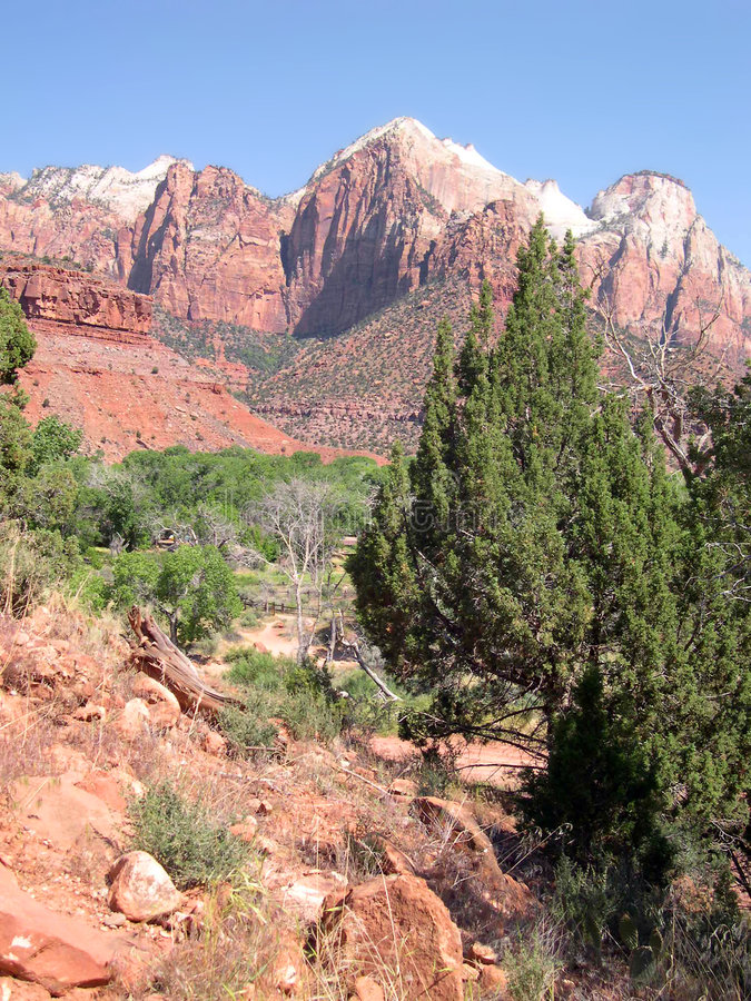 View From The Watchman Trail Stock Photography