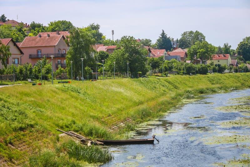 River Vuka In Vukovar Stock Image  Image Of Clouds