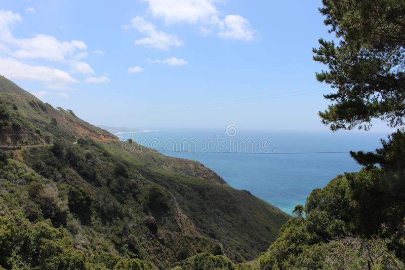 View of Water from Roadside at Ragged Point stock images