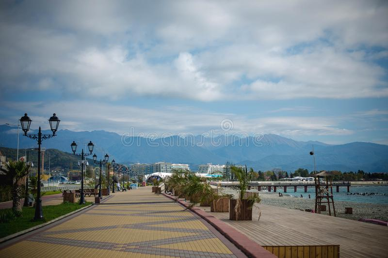 View of the waterfront Sochi royalty free stock photos