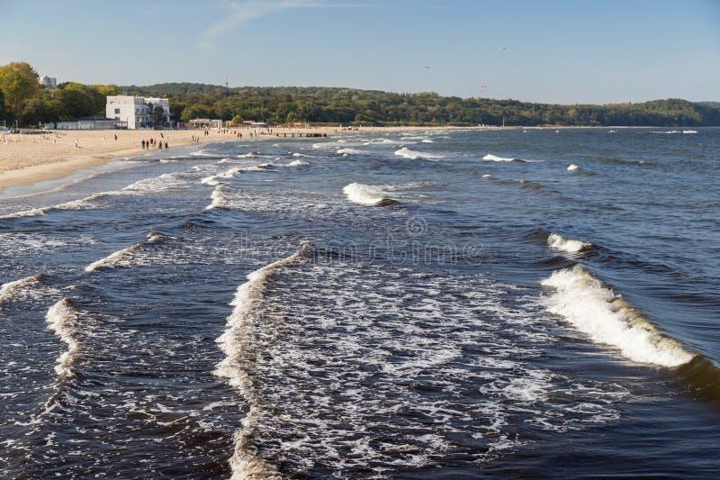 Baltic Sea and beach in Poland stock photo