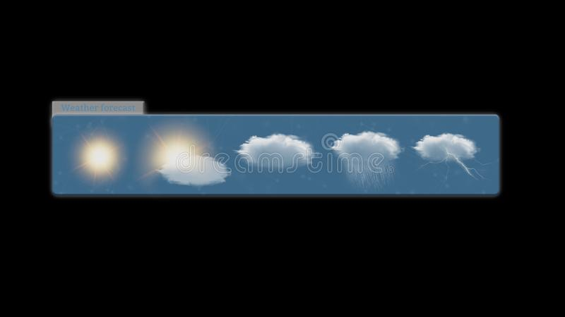 Weather Forecast widget isolated on a background. View of a Weather Forecast widget isolated on a background stock illustration