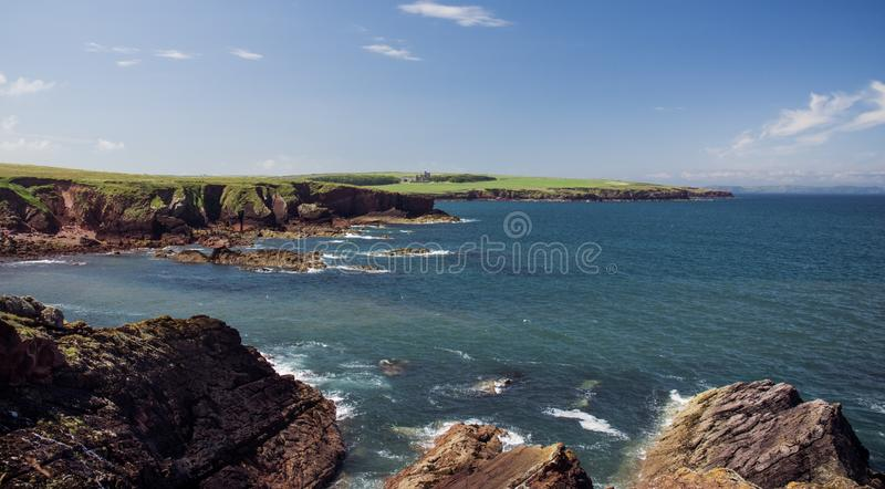 A view of the Welsh coast royalty free stock photos