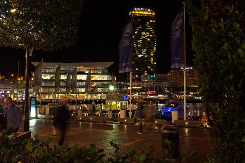 Darling Harbour, Sydney, at Night royalty free stock images