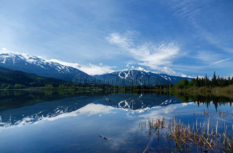 View on Whistler mountain. View on Whistler and Blackcomb mountain Canada royalty free stock photos