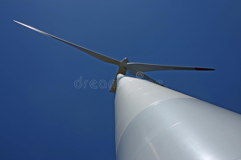 Download View Of Wind Mill Turbine From The Ground Stock Photo - Image: 16358634