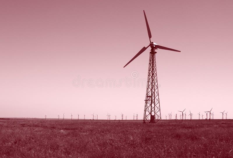 Wind turbines power station
