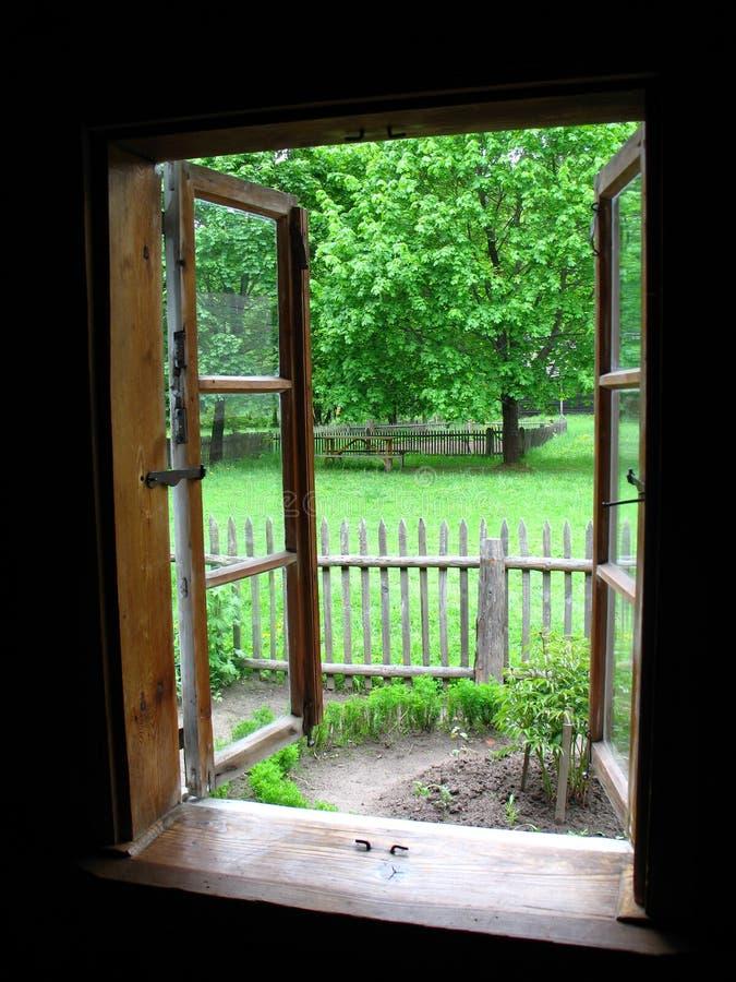 View Through Window Stock Photography