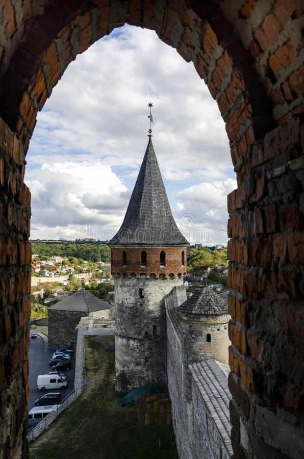 View from the window fortress royalty free stock image