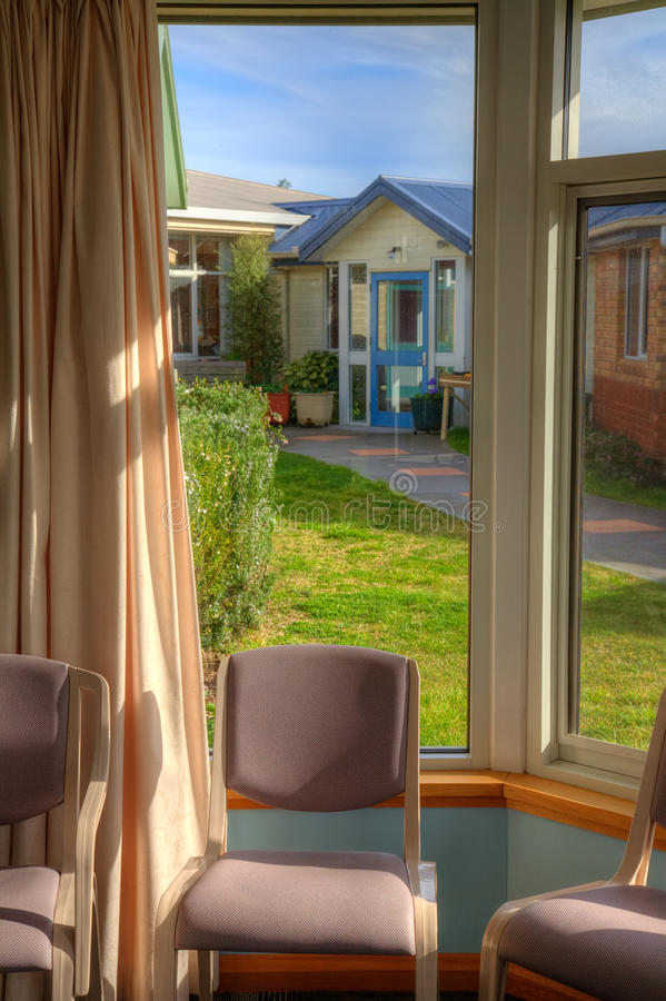 View through the window at nursing home