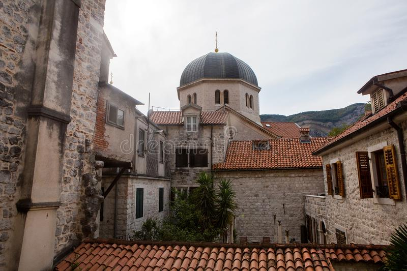 View from the window of the old town on the roof stock images