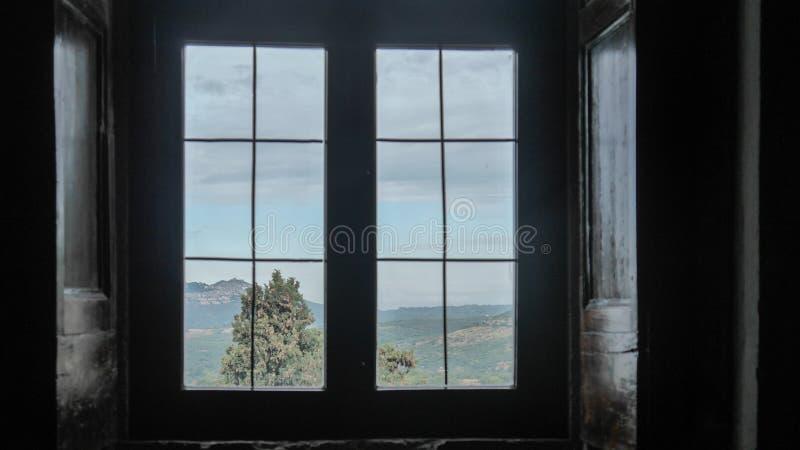 The view from window in Tivoli, Italy royalty free stock photos