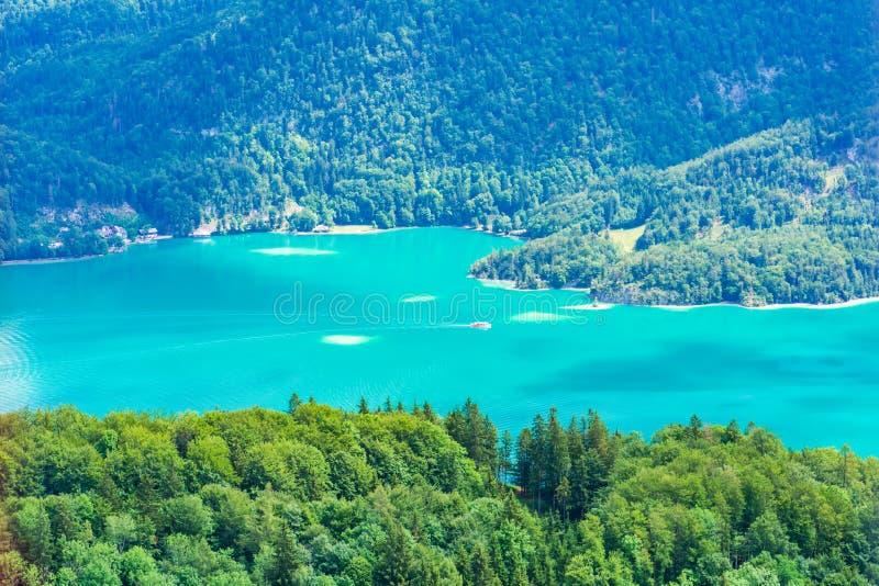 View of Wolfgangsee lake from Zwolferhorn mountain. In Salzkammergut region, Austria stock photo