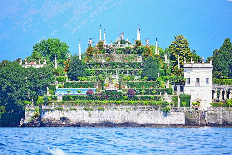 Isola Bella Maggiore Lake beautiful view Italy royalty free stock image