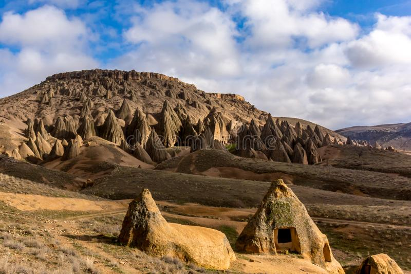 View of wonderful Cappadocia landscape royalty free stock photos