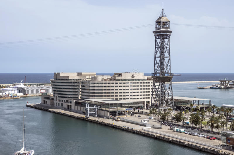 View of World Trade Center Barcelona royalty free stock images