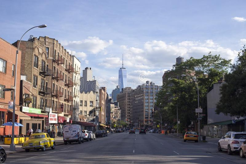 View of 1WTC from Manhattan royalty free stock images
