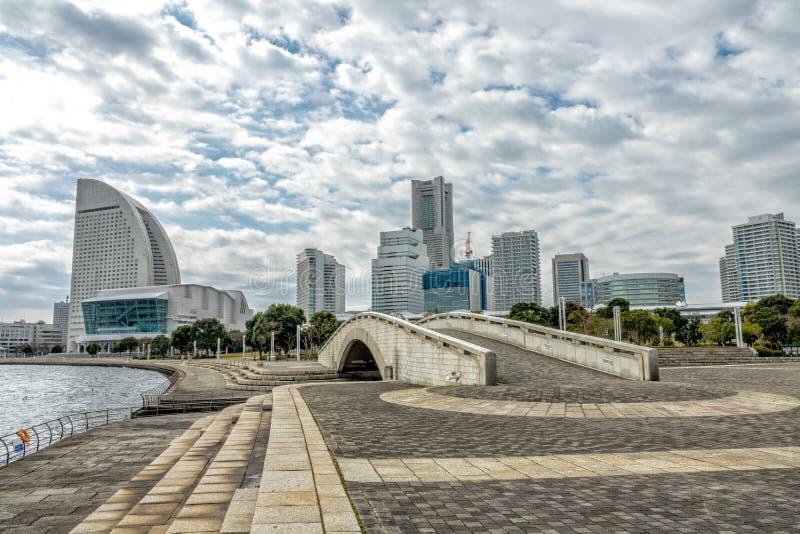 View of Yokohama city. A view of Yokohama city of Japan stock image