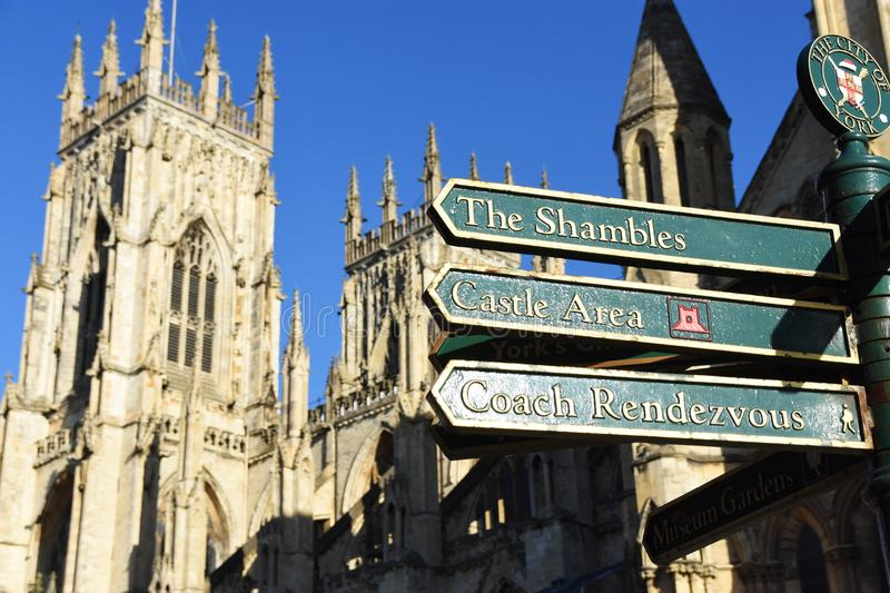 View of York Minster, England royalty free stock photos
