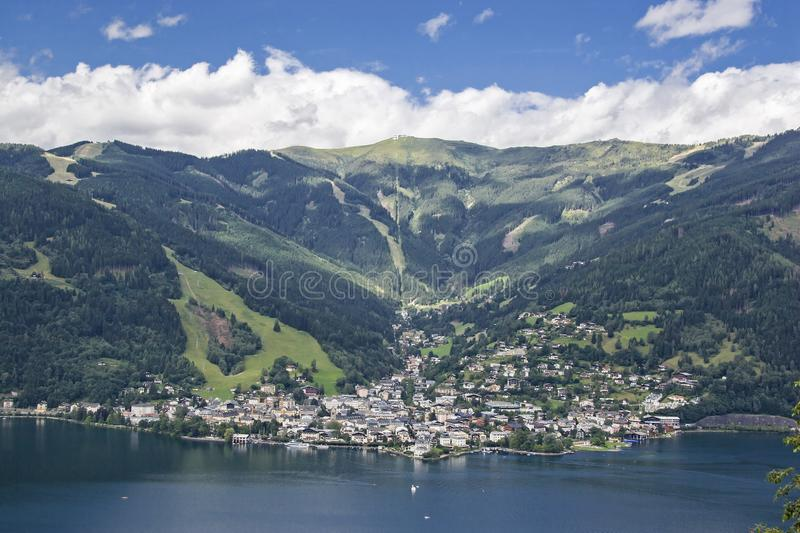 Zell am See in Austria stock photos