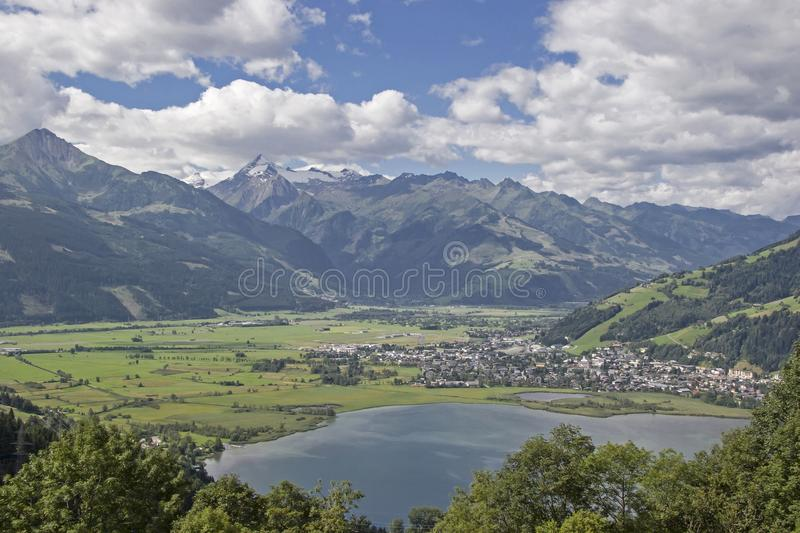 Zell am See in Austria stock image