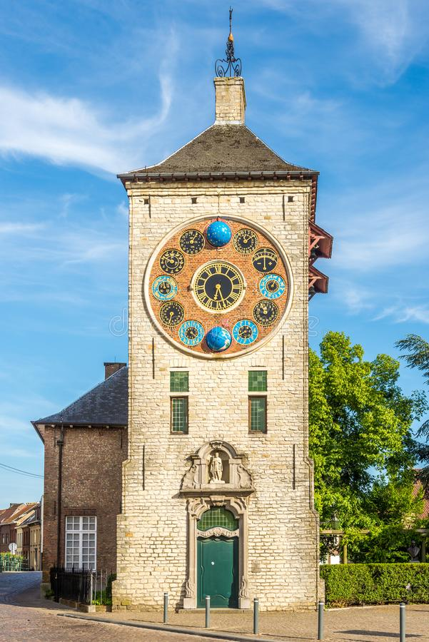 View at the Zimmer towerClock tower in Lier - Belgium. View at the Zimmer tower Clock tower in Lier, Belgium royalty free stock photo