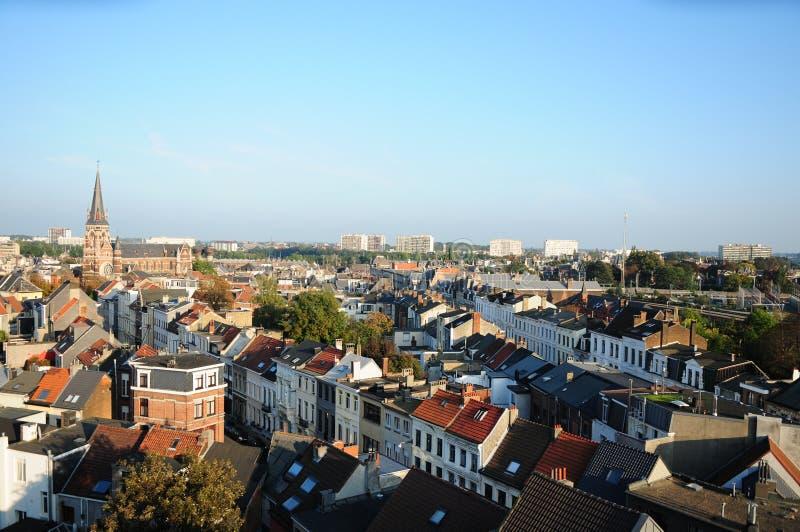 View of Zurenborg, Antwerp stock photo